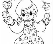 Free coloring and drawings Child juggler Coloring page