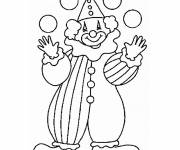 Coloring pages Juggler Clown