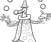 Free coloring and drawings Juggler for the Little Ones Coloring page