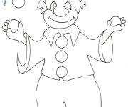 Free coloring and drawings Juggling clown with balls Coloring page