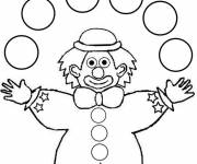 Free coloring and drawings Simple juggler Coloring page