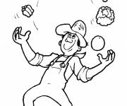 Free coloring and drawings Vegetable juggler Coloring page