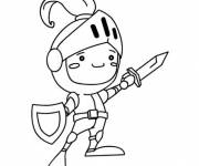 Coloring pages Child Knight