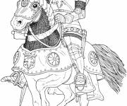 Coloring pages Color drawing knight