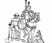 Coloring pages Crusader knight