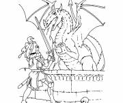 Coloring pages Dragon knight