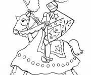 Coloring pages Easy knight