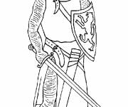Coloring pages English knight in armor