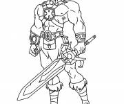 Coloring pages Fighting knight