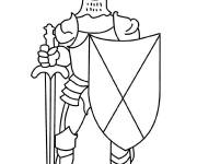 Coloring pages Knight and arms