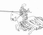 Coloring pages Knight and Quintaine
