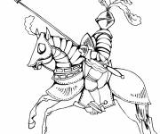 Coloring pages Knight in armor