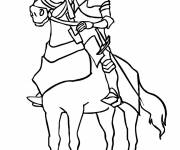 Coloring pages Medieval knight