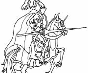 Coloring pages Medieval knight during the ceremony