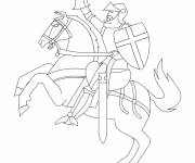 Coloring pages Simple drawing knight