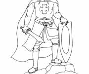 Coloring pages Templar knight