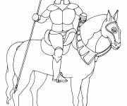 Coloring pages Warrior knight