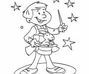 Coloring pages Color magician