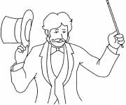 Coloring pages Coloring circus magician