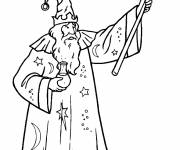 Coloring pages Cutting magician