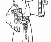 Coloring pages Drawing of a Magician