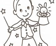 Coloring pages Easy magician