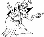 Coloring pages Evil Magician