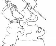 Coloring pages Magician Rituals