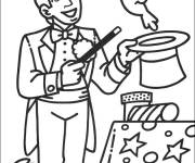 Coloring pages Online Magician