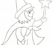 Coloring pages Pencil magician