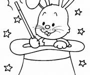 Coloring pages the rabbit in the hat