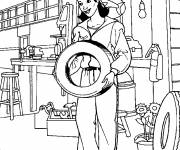Coloring pages A mechanic