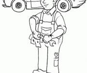 Free coloring and drawings Car mechanic online Coloring page