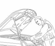 Free coloring and drawings Car mechanic to color Coloring page