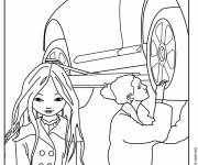 Free coloring and drawings Mechanic and customer Coloring page