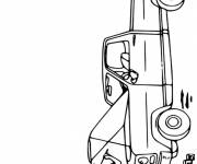 Free coloring and drawings Mechanic repairs the engine Coloring page