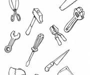 Free coloring and drawings Mechanic Tools Coloring page