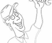 Free coloring and drawings profession Mechanic Coloring page