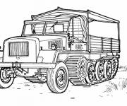 Coloring pages American Military Truck