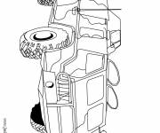 Coloring pages An armored tank