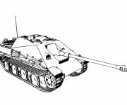 Coloring pages drawing of a Tank