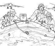 Coloring pages Easy military