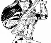 Coloring pages GI-Joe character and weapon