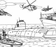 Coloring pages Maritime war vehicle