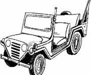 Coloring pages Military Jeep