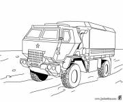 Coloring pages military transport truck