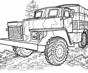Coloring pages Military truck