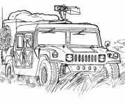 Coloring pages Military vehicle