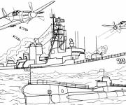 Coloring pages Naval warfare