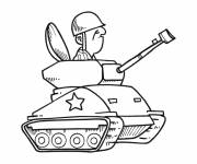 Coloring pages Tank driver